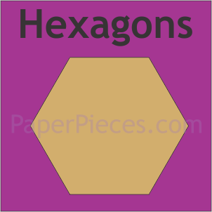 English Paper Piecing Hexagons