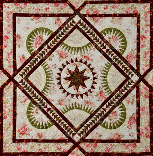 Blooming Tale Foundation Paper Piecing Quilt