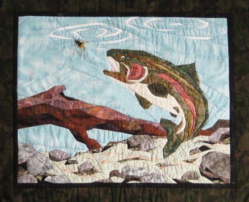 Angler's Dream Paper Piecing Quilt