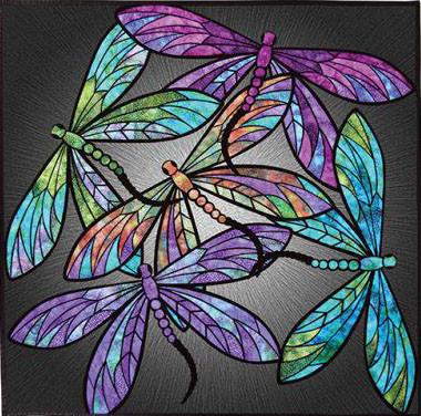 Dance Of The Dragonflies Applique Quilt Pattern 40 X 40