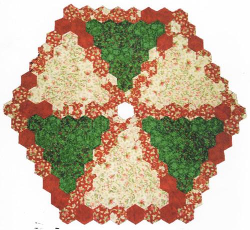 Hexagon Tree Skirt English Paper Piecing