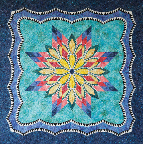 Water Lily Foundation Paper Pieced Quilt