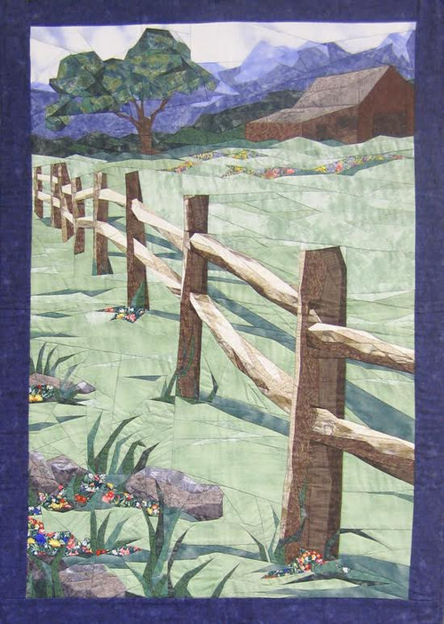 Split Rail New form of Foundation Paper Piecing Quilt