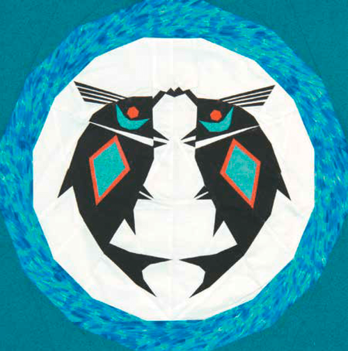 Mimbres Fish Foundation Paper Piecing Quilt Block