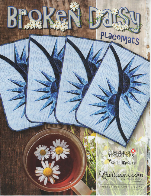 Broken Daisy Foundation Paper Piecing Placemats Front Cover
