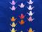 Paper Cranes Foundation Paper Pieced Quilt Close Up
