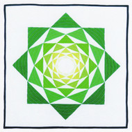 The Artichoke Foundation Paper Pieced Quilt in Square Setting