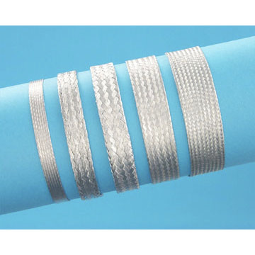 "1/8"" Tin coated Copper Expandable Braided Sleeving (Flat)"