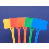"6"" Blank Flag Marker Cable Tie - 1-1/8 x 5/8"""