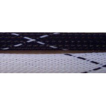 """1/4"""" FR PET Braid (Black/White)"""