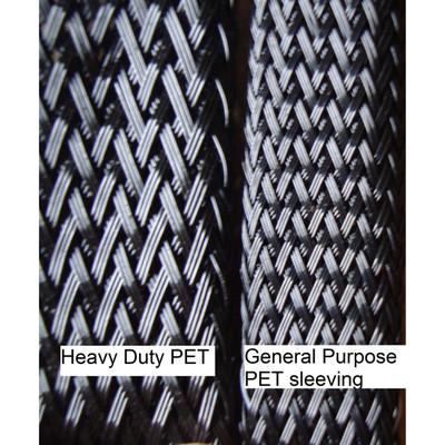 "1"" Heavy Duty PET Braided sleeving (250 ft/spool)"