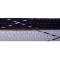 "1/8"" Fray Resistant FR PET Braid - Black/White"