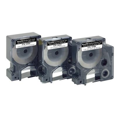 "3/8"" Dymo Metallized Polyester Label Cartridge for Rhino Printers (PN18485)"