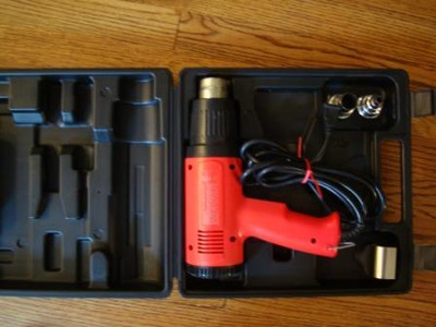 """VT-1100 Heat Gun Carrying Case with attachments (5/8"""" concentrator, 3/8"""" concentrator & shrink tube reflector)"""
