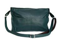 Crossbody Bag - Green leather shoulder purse - fashion school bag - fit iPad - carmen