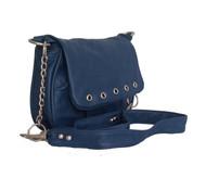 Bright Blue Leather Crossbody Bag - women's bags - shoulder handbag - unique purse sury