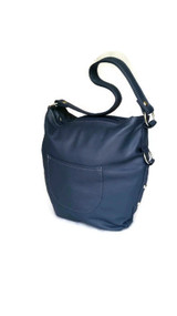 Blue leather purse - hobo bag - handmade shoulder handbag for women sujey