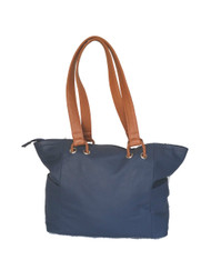 Blue leather tote purse / everyday shoulder bag / blue tote handmade unique design kenia