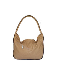 Wash camel leather hobo purse / rustic shoulder bag / unique handbag Sofia