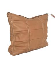 Camel leather clutch rustic bag fashion handbag, letty