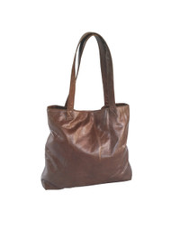 Brown Leather Tote Purse Bag - Casual Shoulder Tote - Women's Purses - Lightweight Handmade Totes yosy