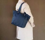 Blue Leather Purse - Women's Bag - Casual Shoulder Handbag - Kenia