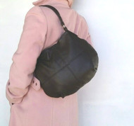Brown Chocolate Leather Bag - Women's Hobo Purse - Slouchy Bag - Shoulder Handbag - Aida