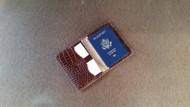 Unique Leather Passport Wallet, Travel Wallet, Passport Case, Leather Passport Holder, Document Wallet