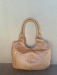 Brown leather bag - walnut purse - everyday shoulder handbag arely