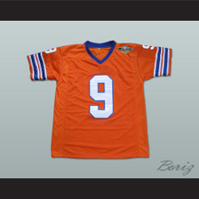 Adam Sandler Bobby Boucher The Waterboy Mud Dogs Football Jersey with Bourbon Bowl Patch