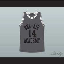 The Fresh Prince of Bel-Air Will Smith Bel-Air Academy Gray Basketball Jersey