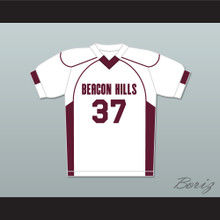Jackson Whittemore 37 Beacon Hills Cyclones Lacrosse Jersey Teen Wolf White