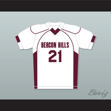 Greenberg 21 Beacon Hills Cyclones Lacrosse Jersey Teen Wolf White
