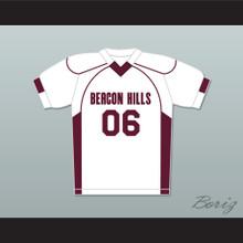 Danny Mahealani 06 Beacon Hills Cyclones Lacrosse Jersey Teen Wolf White