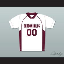 Derek Hale 00 Beacon Hills Cyclones Lacrosse Jersey Teen Wolf White Style