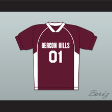 Peter Hale 01 Beacon Hills Cyclones Lacrosse Jersey Teen Wolf Maroon Style