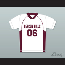 Danny Mahealani 06 Beacon Hills Cyclones Lacrosse Jersey Teen Wolf White Style