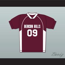 Liam Dunbar 09 Beacon Hills Cyclones Lacrosse Jersey Teen Wolf Maroon Style