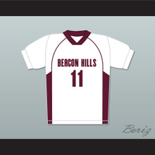 Scott McCall 11 Beacon Hills Cyclones Lacrosse Jersey Teen Wolf White Style