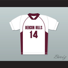 Isaac Lahey 14 Beacon Hills Cyclones Lacrosse Jersey Teen Wolf White Style