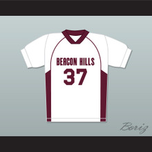 Jackson Whittemore 37 Beacon Hills Cyclones Lacrosse Jersey Teen Wolf White Style