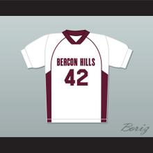 Scott Howard 42 Beacon Hills Cyclones Lacrosse Jersey Teen Wolf White Style