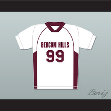 Bobby Finstock 99 Beacon Hills Cyclones Lacrosse Jersey Teen Wolf White Style