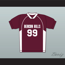 Bobby Finstock 99 Beacon Hills Cyclones Lacrosse Jersey Teen Wolf Maroon Style