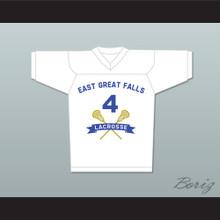 Steve Stifler 4 East Great Falls Lacrosse Jersey White New