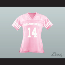 Isaac Lahey 14 Beacon Hills Cyclones Lacrosse Jersey Teen Wolf Pink