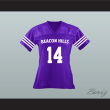 Isaac Lahey 14 Beacon Hills Cyclones Lacrosse Jersey Teen Wolf Purple