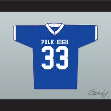 Al Bundy 33 Polk High Football Jersey Married With Children Ed O' Neill Blue with White Trim