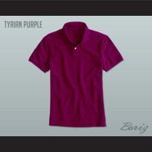 Men's Solid Color Tyrian Purple Polo Shirt