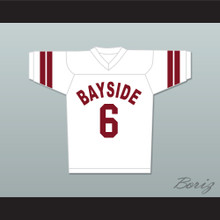 AC Slater 6 Bayside Tigers Football Jersey White Saved By The Bell
